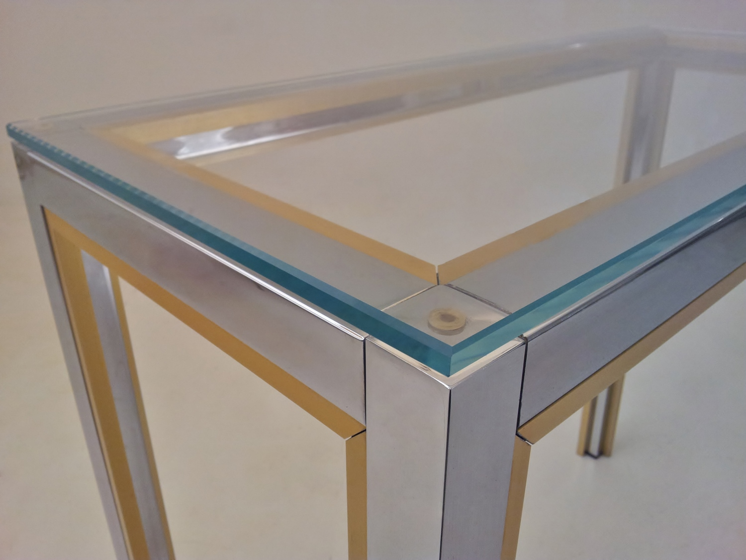 Zevi Vintage Console Table Amp Wall Mirror Chrome Glass