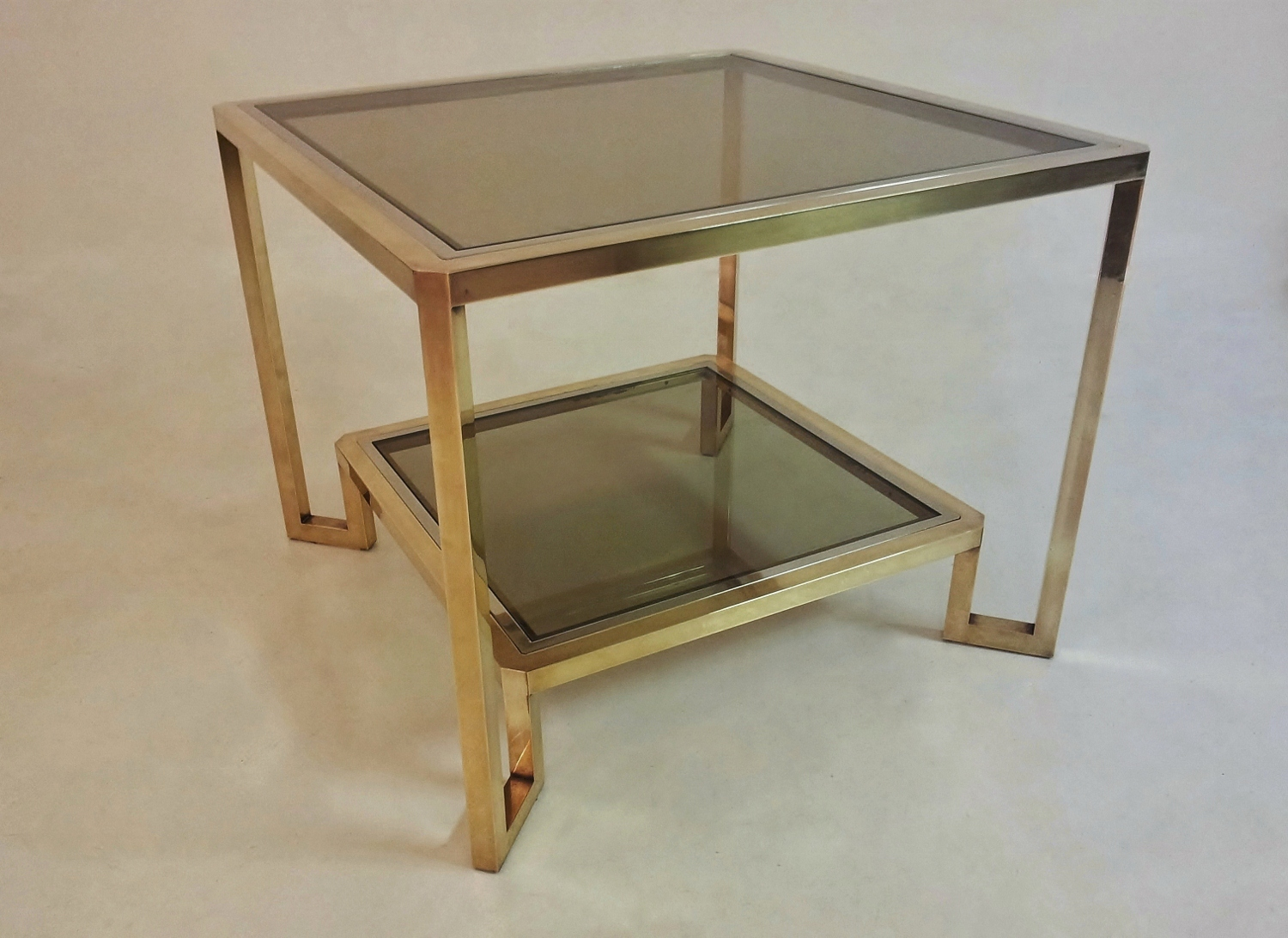 Jansen Coffee Table Guy Lefevre For Maison Jansen Vintage Square Coffee Table 1970s