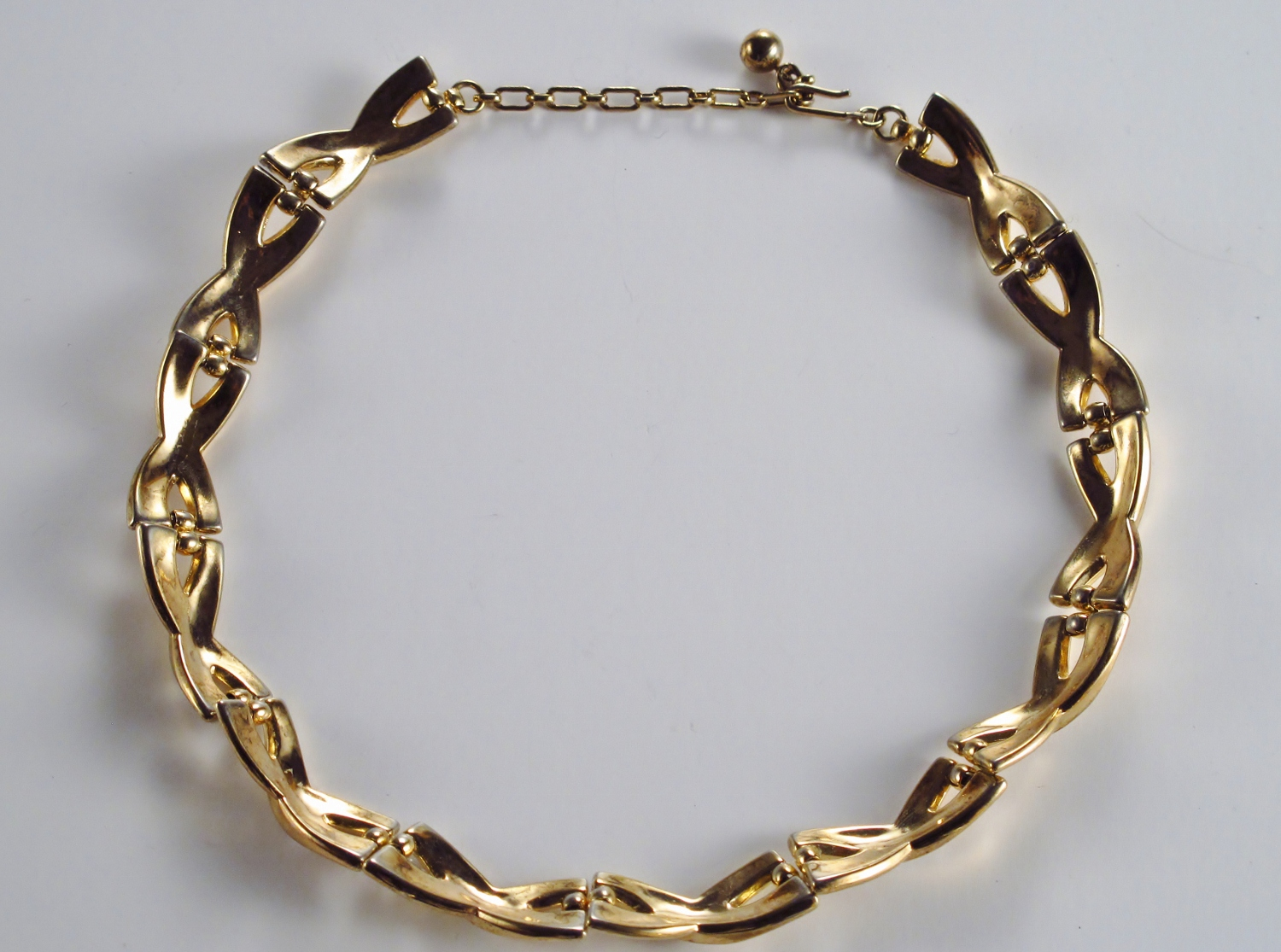 Trifari Vintage Modernist Necklace By Alfred Philippe 1940