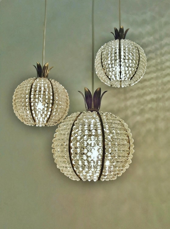 Hillebrand Vintage Pineapple Chandelier 1950 S Ca German