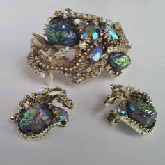 HAR vintage Dragon bracelet & earrings, 1959, American