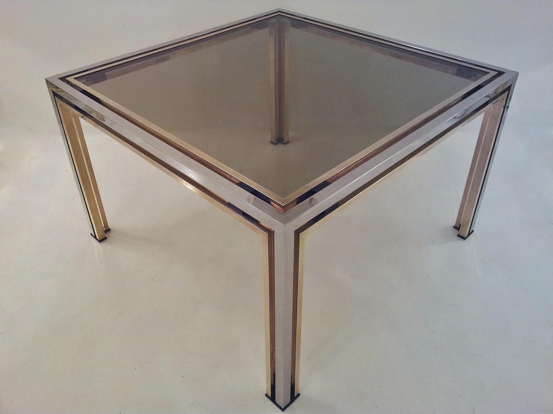 Romeo Rega Vintage Smoked Glass Coffee Table 1970 S Ca Italian