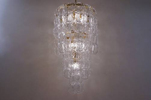 Angelo mangiarotti style chandelier murano glass chain link gilt angelo mangiarotti style chandelier murano glass chain link gilt frame italian aloadofball Choice Image