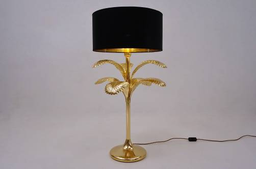 Palm tree table lamp in the style of