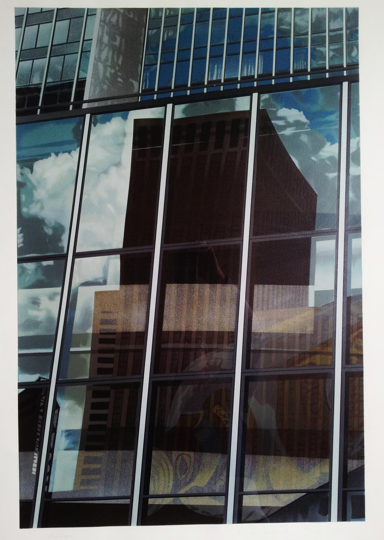 Brendan Neiland Prints Cityscape Screenprint 1981