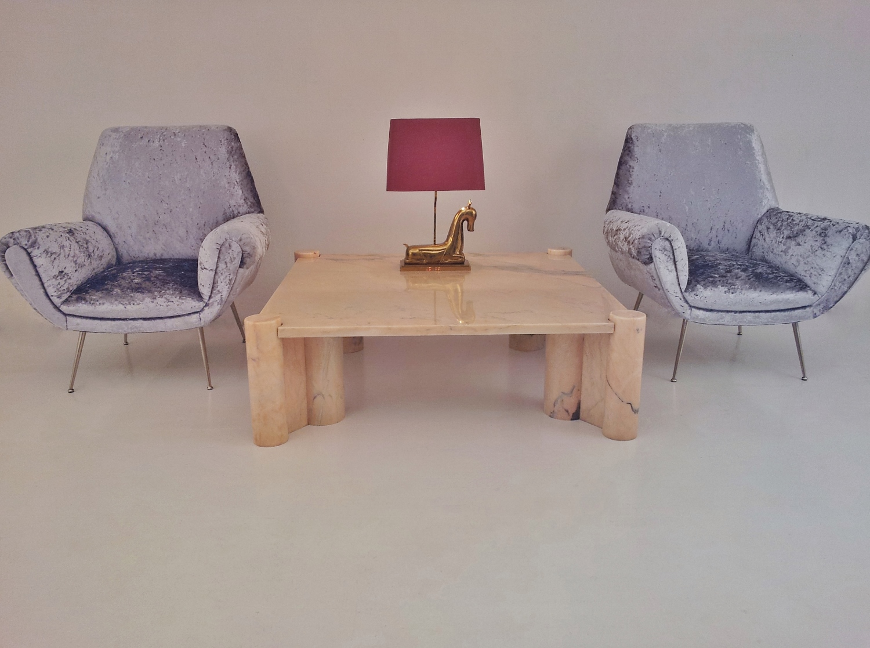 Gae Aulenti Vintage Jumbo Marble Coffee Table For Knoll