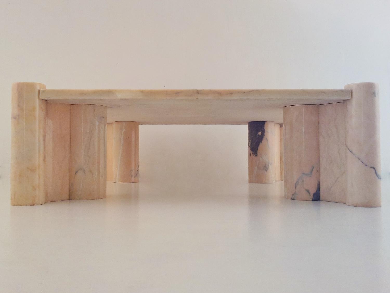 gae aulenti vintage jumbo marble coffee table for knoll 1965