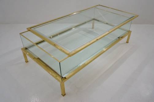 Maison Jansen Vintage Sliding Top Coffee Table, 1970`s Ca, French