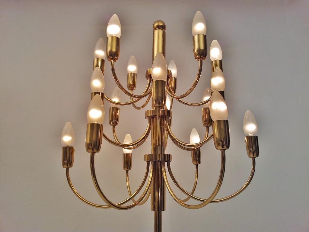 Gaetano Sciolari Vintage Brass 18 Light Pistillo