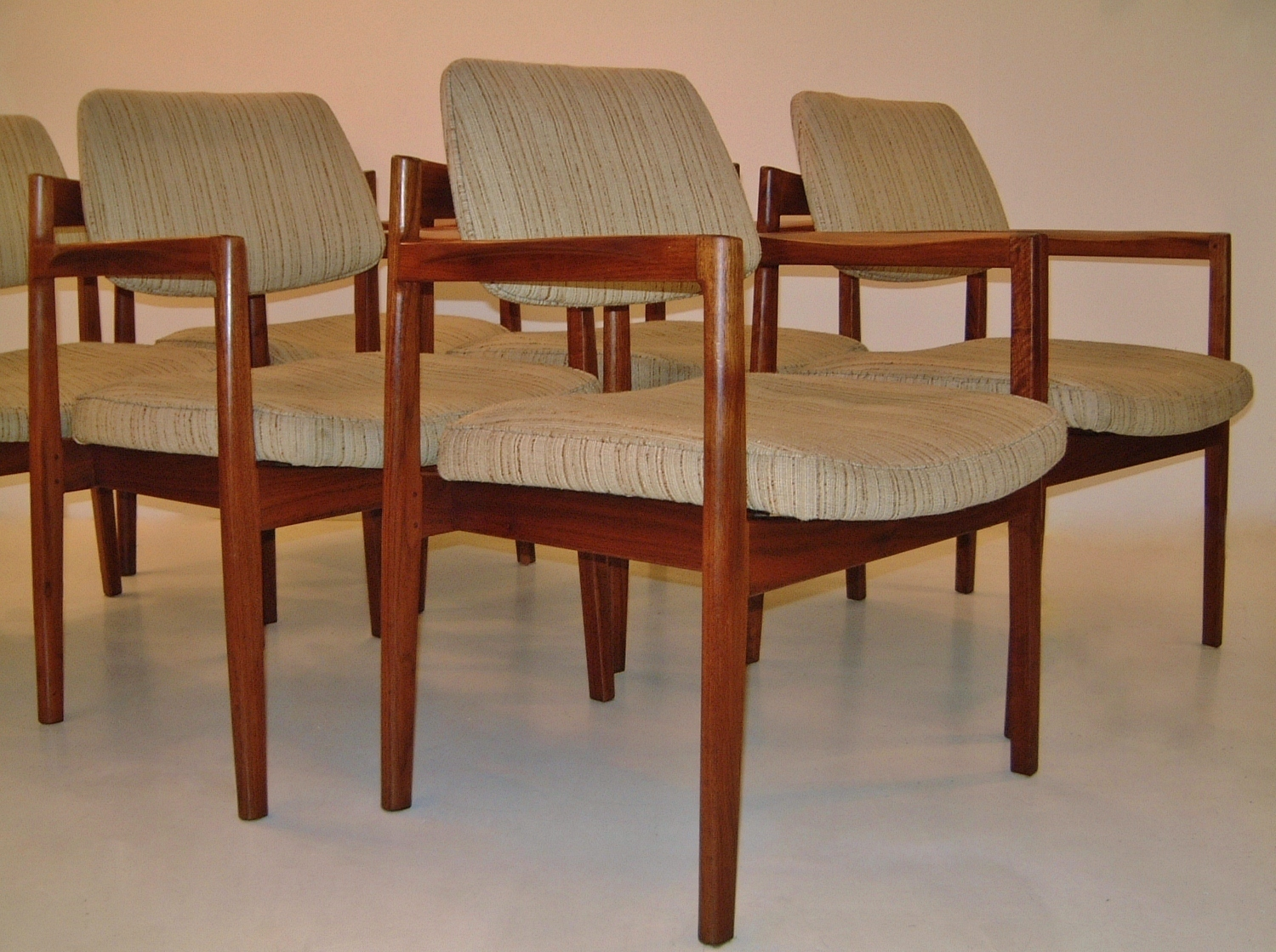 Jens Risom Vintage Dining Chairs Set Of Six 1950 S Ca Danish In From Roomscape