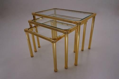 Orsenigo nesting tables gold gilt bevelled glass