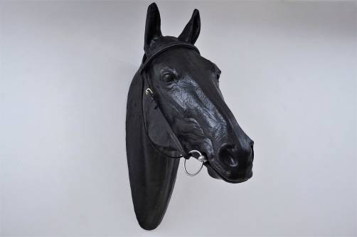 Sculpture horse head shop display for leather bridle, 1970`s English