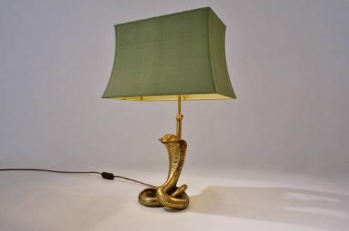 Cobra Lamp Brass Maison Jansen 1970 S Ca French In
